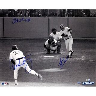 """Bucky Dent 1978 Playoff HR vs Mike Torrez Dual Signed 16x20 Photo w/ """"10-2-1978"""" Insc by Torrez (MLB Auth)"""