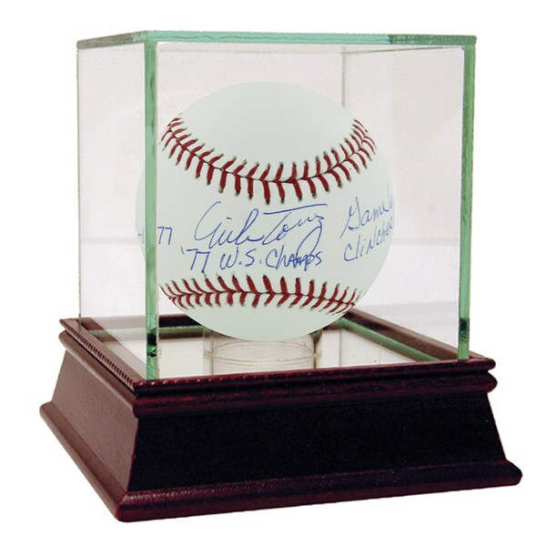 """Mike Torrez Signed MLB Baseball w/ """"10-18-77, 77 WS Champs, Game 6 Clincher"""" insc (MLB Auth)"""