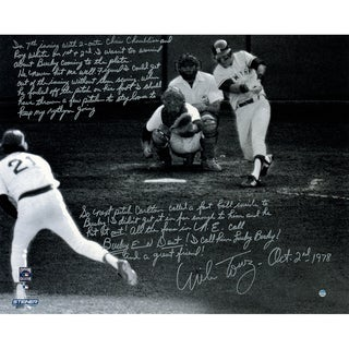 Mike Torrez Signed 1978 American League East Tie-Breaker Game 16x20 Story Photo