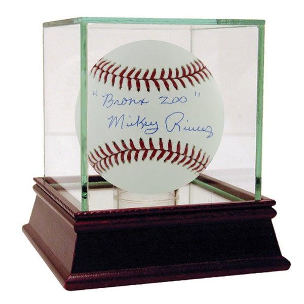 "Mickey Rivers MLB Baseball w/ ""Bronx Zoo"" Insc."