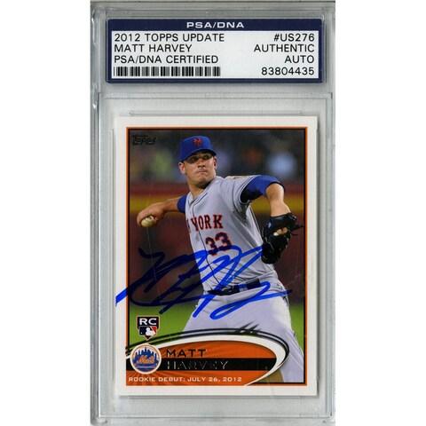 Matt Harvey Signed Topps Trading Card 7/26/12 (PSA/DNA)