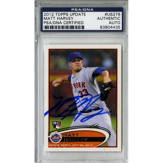 Matt Harvey Signed Topps Trading Card 7/26/12 (PSA/DNA)
