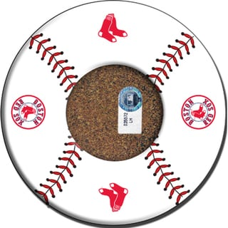 Boston Red Sox Baseball with Logo Coasters (Set of 4)