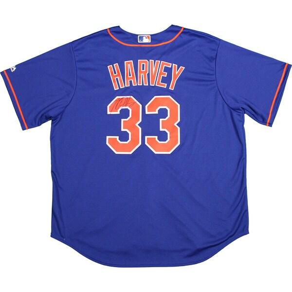 Matt Harvey Signed New York Mets Blue Replica Jersey (LOJO Auth)