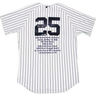 Mark Teixeira Signed Yankees Authentic Home Pinstripe Jersey w/ Embroidered Stats (LE/25)(MLB Auth)