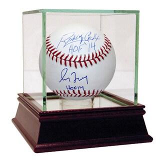 "Bobby Cox/Greg Maddux Dual Signed MLB Baseball w/ ""HOF 14"" inscriptions"