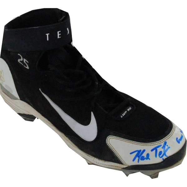 Mark Teixeira Signed Game Used Cleat w/ Game Used Insc (Single)