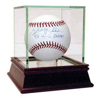 """Bobby Cox Signed MLB Baseball w/ """"95 WS Champs"""" insc