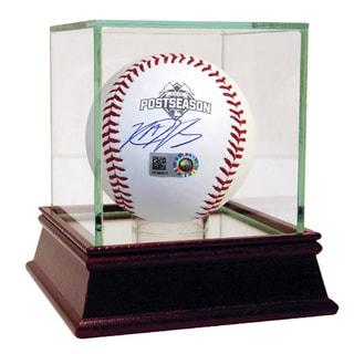 Matt Harvey Signed 2015 Postseason Logo MLB Baseball ( MLB Auth)
