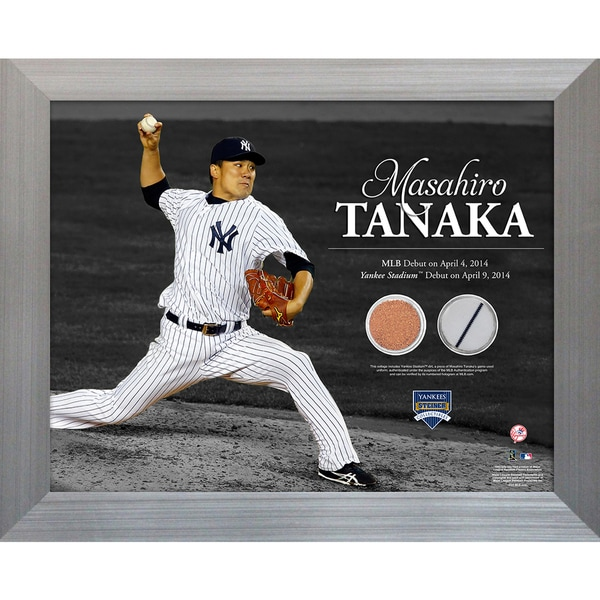 Masahiro Tanaka Pitching 11x14 Framed Photo Uniform & Dirt Collage