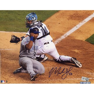 Marlon Byrd Slide Into Home At 10 AllStar Game Horizontal 8x10 Photo (MLB Auth)