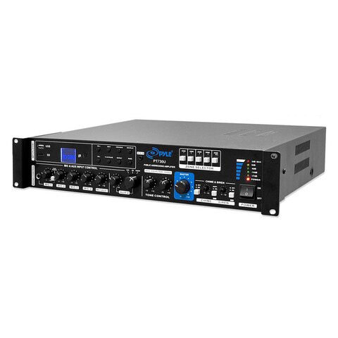 Pyle PT730U 375W PA Amplifier with 5 Mic Inputs