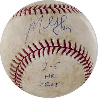 "Marlon Byrd Signed Diamondbacks at Cubs 5-02-2010 Game Used Baseball w/ ""2-5, HR, 3 RBI"" Insc. (MLB Auth)"