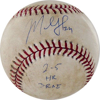 "Marlon Byrd Signed Diamondbacks at Cubs 5-02-2010 Game Used Baseball w/ ""2-5, HR, 3 RBI"" Insc. (MLB Auth)"