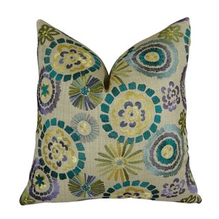 Plutus Violet Electron Handmade Double-sided Throw Pillow