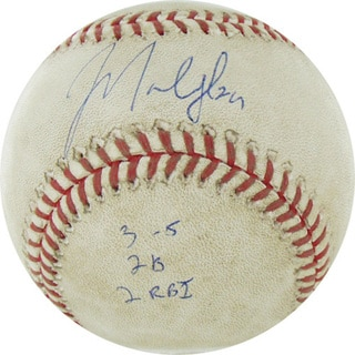 "Marlon Byrd Signed Astros at Cubs 4-18-2010 Game Used Baseball w/ ""3-5, 2B, 2 RBI"" Insc. (MLB Auth)"