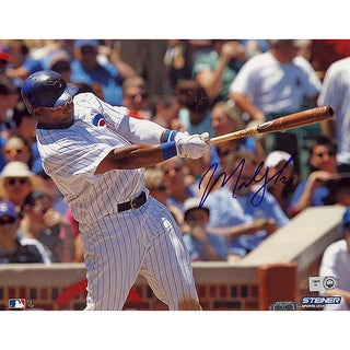 Marlon Byrd Chicago Cubs Home Jersey Swing Horizontal 8x10 Photo (MLB Auth)