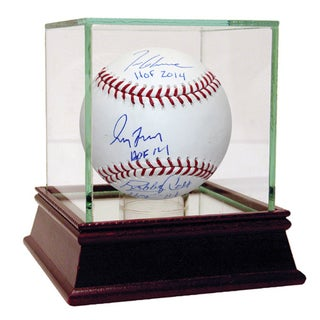 "Bobby Cox/Greg Maddux/Tom Glavine Triple Signed MLB Baseball w/ ""HOF 14"" inscriptions (SSM Auth; TriStar Auth)"