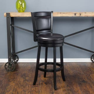 Mallik 43-inch Bonded Leather Swivel Backed Bar Stool by Christopher Knight Home|https://ak1.ostkcdn.com/images/products/11205549/P18194428.jpg?impolicy=medium