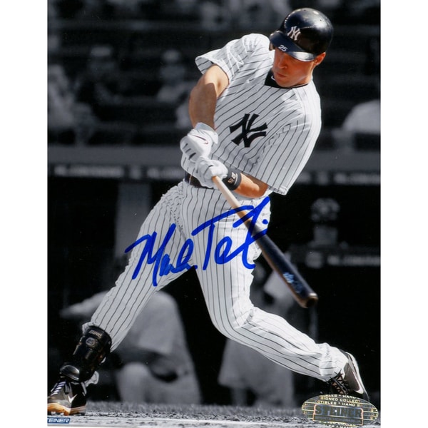 Mark Teixeira Signed 4x5 Seatback Photo