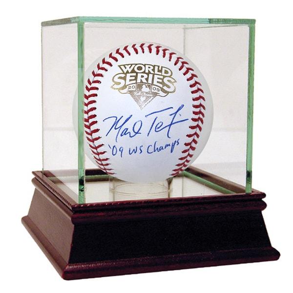"Mark Teixeira 2009 WS Baseball w/ ""09 WS Champs"" Insc. (MLB Auth)"