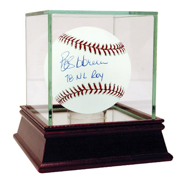 """Bob Horner Signed MLB Baseball w/ """"78 NL ROY"""" insc"""