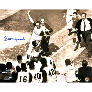 "Bill Mazeroski Signed ""Rounding bases shot""16x20 Photo"