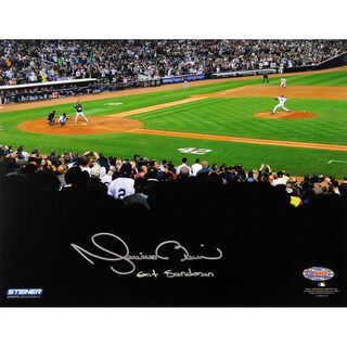 "Mariano Rivera 2013 Career Final Pitch At Yankee Stadium Signed 8x10 Photo w/""Exit Sandman"" Insc"