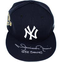 "Mariano Rivera Signed New York Yankees Farewell Hat  (Sz 7 3/8) (Style #2) - Front Mo Logo, NY on Side w/ "" 652 Saves"" Insc."