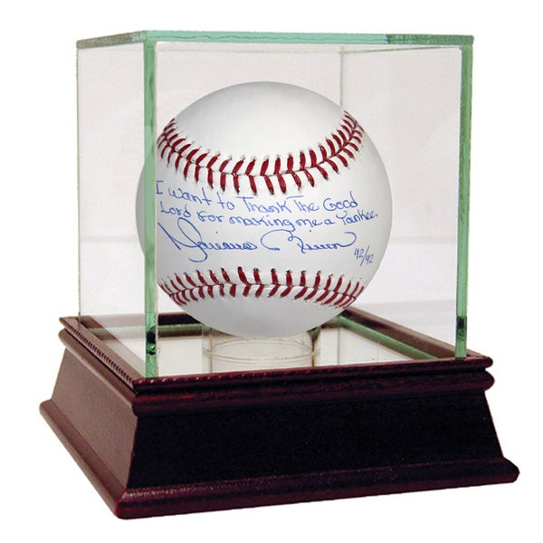 """Mariano Rivera Signed MLB Baseball w/ """"I Want To Thank The Good Lord For Making Me A Yankee"""" Insc. (LE of 42)"""