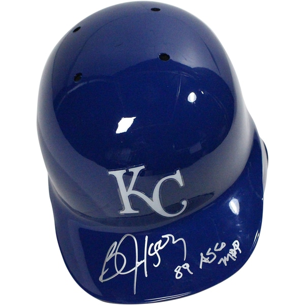"Bo Jackson Signed Kansas City Royals Left Ear Flap Batting Helmet w/ ""89 ASG MVP"" Insc"