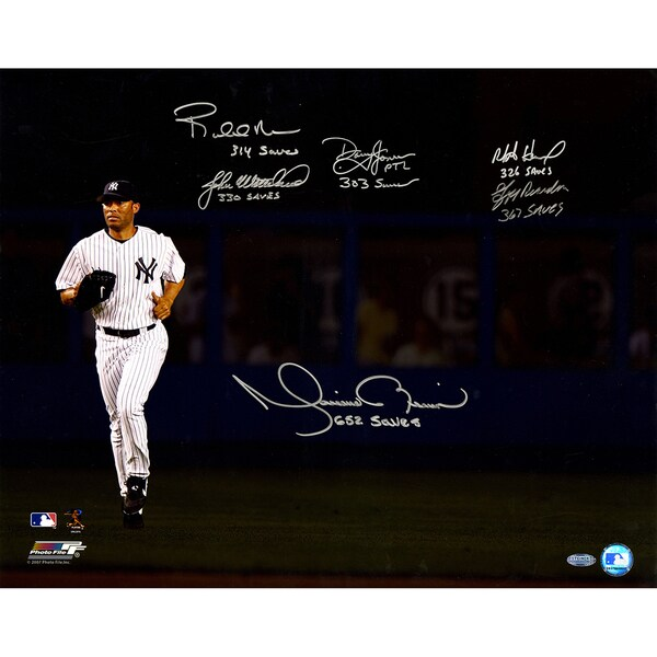 Mariano Rivera Running In - 300+ Save Closers Multi Signed 16x20 Photo (6 Sigs)