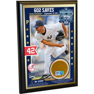Mariano Rivera Record Breaking Save (602nd Career Save) 4x6 Dirt Plaque