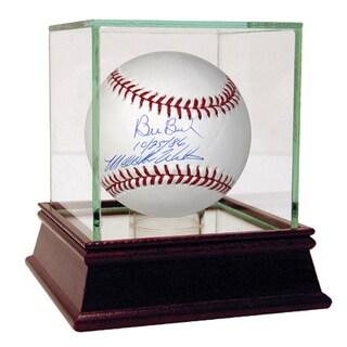 "Bill Buckner/Mookie Wilson Dual Signed MLB Baseball w/ ""10/25/86"" Insc. by Wilson"