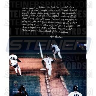 Bill Buckner Signed 1986 World Series 16x20 Story Photo