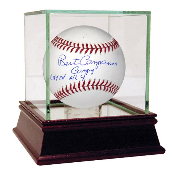 "Bert Campaneris Signed MLB Baseball w/ ""campy, played all 9, 6x AS, 649 SB, 6x SB Champ, 3x WSC"" Insc"