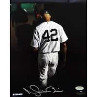 Mariano Rivera Final Exit At Yankee Stadium Signed 8x10 Photo