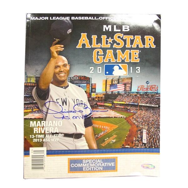 Mariano Rivera Autographed 2013 Commemorative All Star Game Program w/AS MVP Inscription