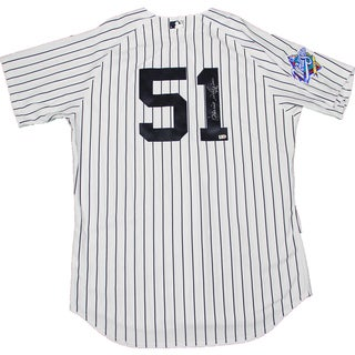 Bernie Williams Signed New York Yankees Authentic Pinstripe Jersey w/ 1999 Patch (MLB Auth)