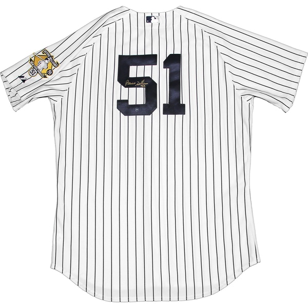 Bernie Williams Signed Majestic Authentic Jersey with Retirement Patch