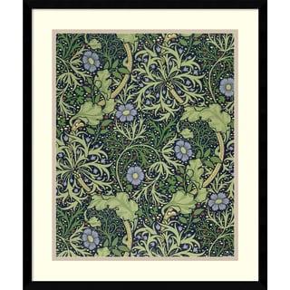 William Morris 'Seaweed Wallpaper Design, printed by John Henry Dearle, 1901' Framed Art Print 19 x 22-inch