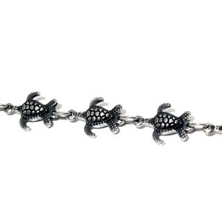 Antiqued Turtle Magnetic Therapy Bracelet