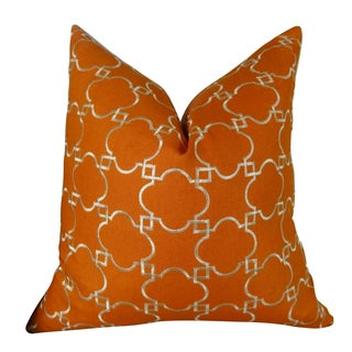 Plutus Fresh Mango Handmade Double-sided Throw Pillow