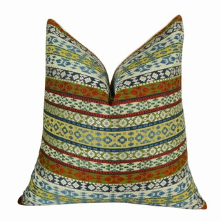 Plutus Fun Stripes Handmade Double-sided Throw Pillow