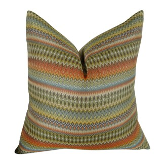 Plutus Zig Along Handmade Double-sided Throw Pillow