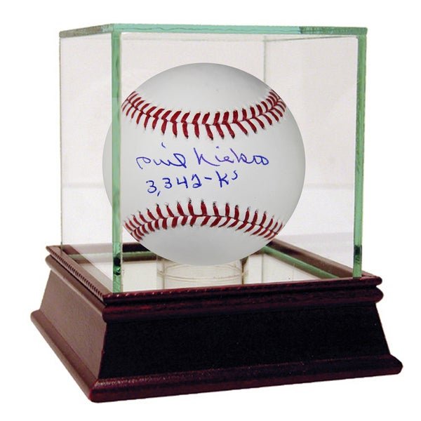 "Phil Niekro Signed MLB Baseball w/ ""3,342 K's"" Insc"