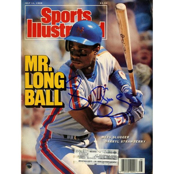 Darryl Strawberry Signed 7/11/88 Sports Illustrated Magazine
