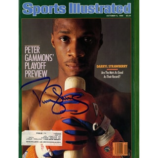 Darryl Strawberry Signed 10/6/86 Sports Illustrated Magazine