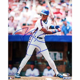 Darryl Strawberry NY Mets Pinstripes Batting Vertical 8x10 Photograph