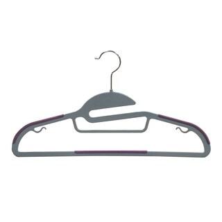 Multi-function Grey Plastic Suit Hanger (Pack of 50)